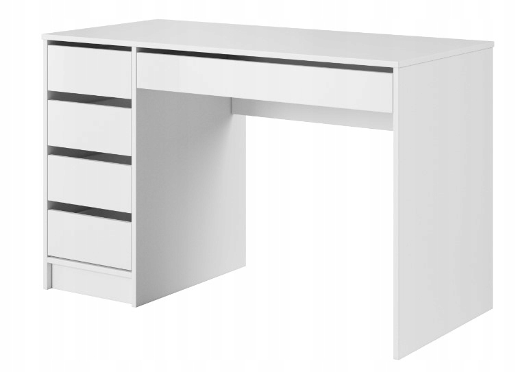 Письменный стол 120х55 простые современные белые ящики