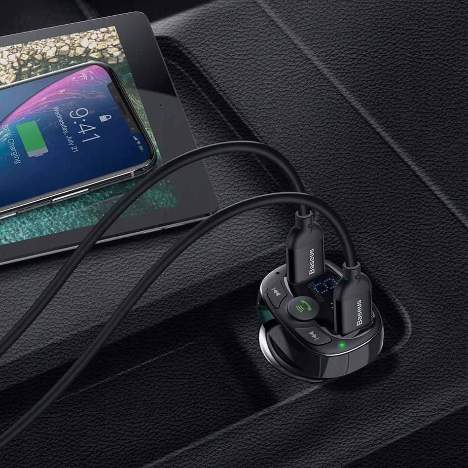 Baseus Bluetooth FM-sender MP3-lader 2xUSB Model S-09A