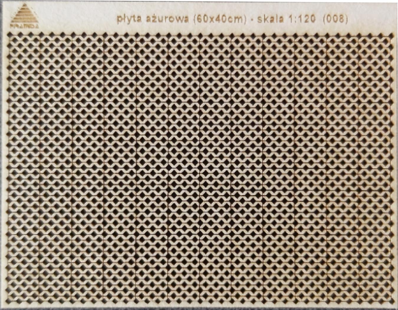płyta ażurowa (wer. 60x40cm) skala TT 1:120 (008)