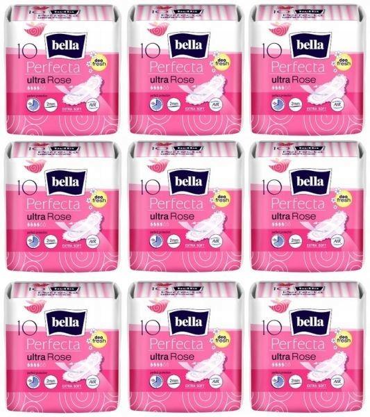 Гигиенические прокладки BELLA PERFECTA ULTRA ROSE (10 штук) x 9