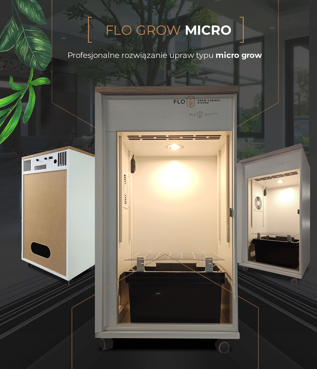 growbox FLO GROW MICRO 2.0 cabinet system indoor