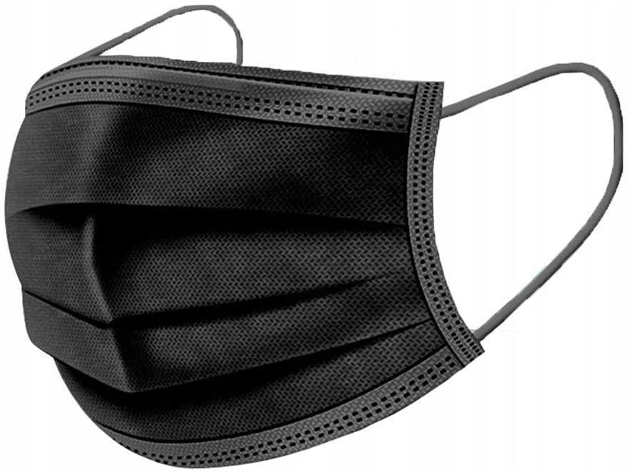 Маска-маска 4 СЛОЯ ГИГИЕНА ЧЕРНЫЕ КАУЧУКИ