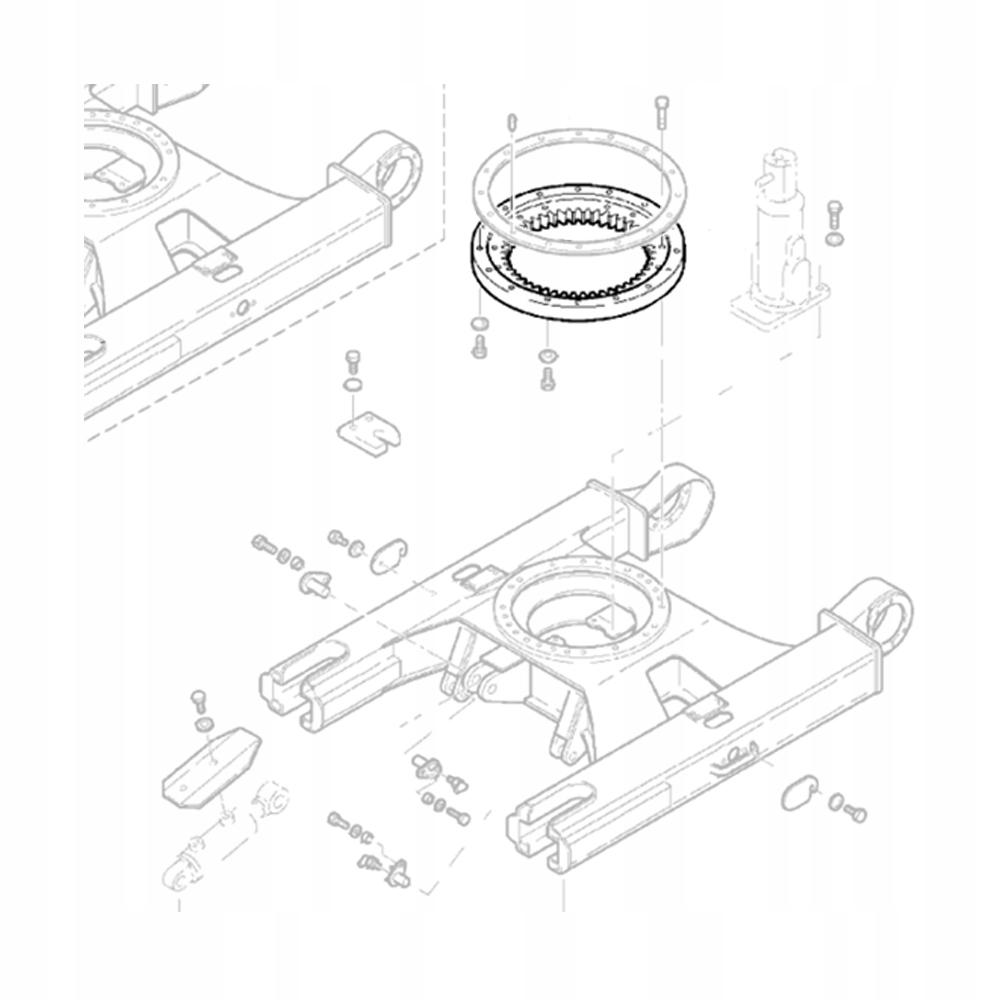 KUBOTA LR001-C1120 KX251 поворотное кольцо