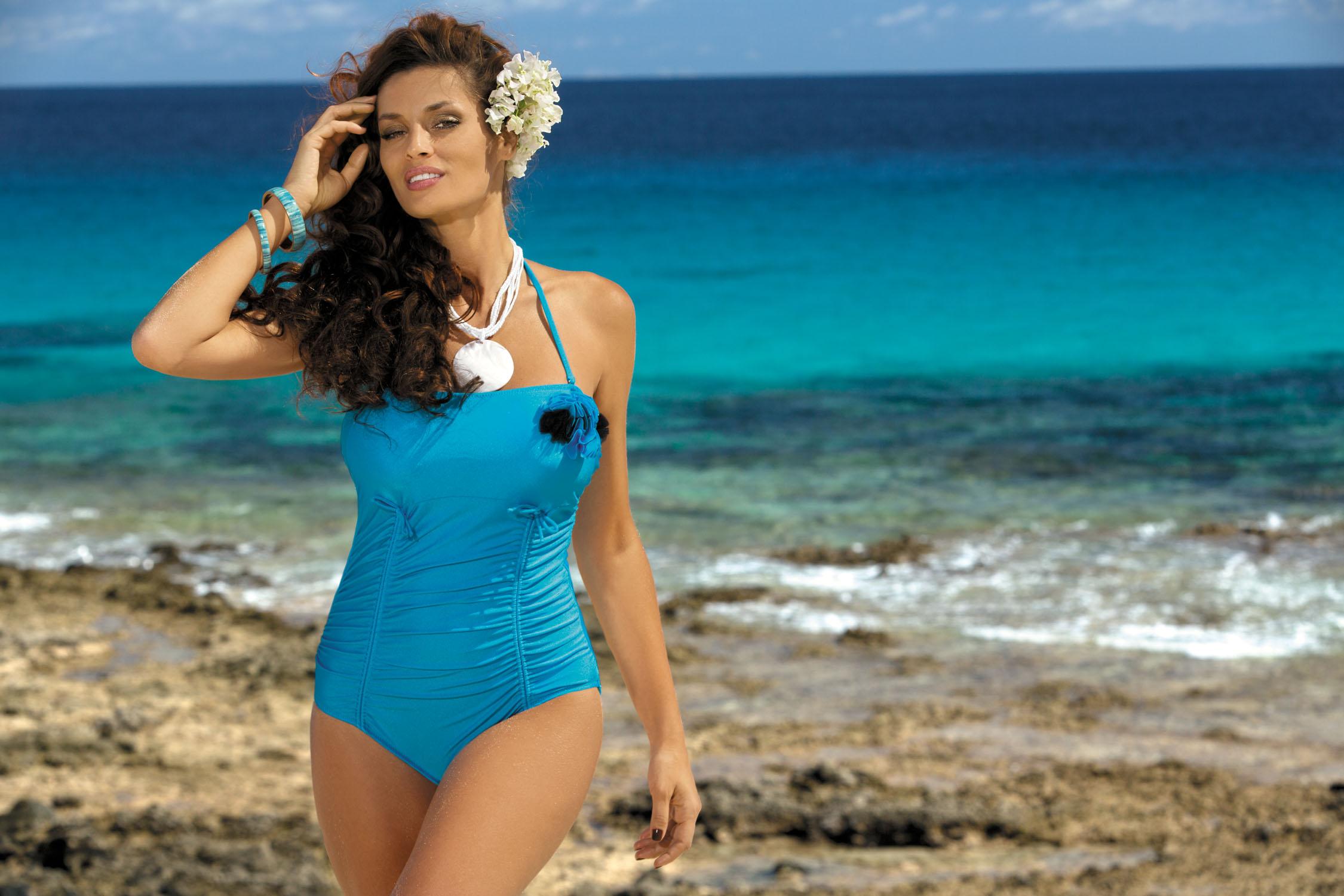 Kostium kąpielowy Shila Turchese M-202 Niebieski (