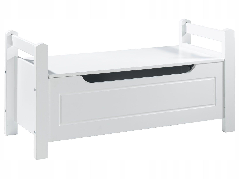 Белая скамейка с ящиком. Комод сиденье 88 см.