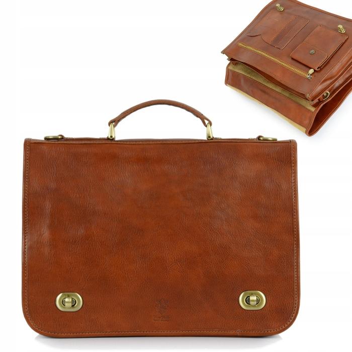 Retro kožená aktovka Veľká kožená pracovná taška