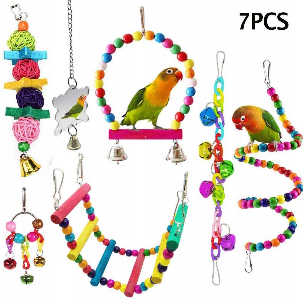 ESRISE 7 hračky pre Vtáky do Klietky Rôzne