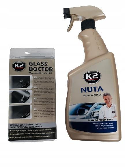 K2 GLASS DOCTOR ZESTAW DO NAPRAWY SZYB B350 + NUTA