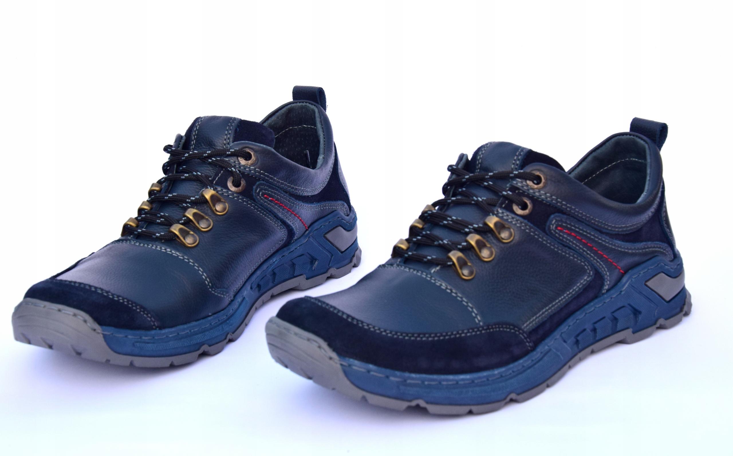 Buty trekkingowe górskie polskie skórzane 0241IG Długość wkładki 27.3 cm