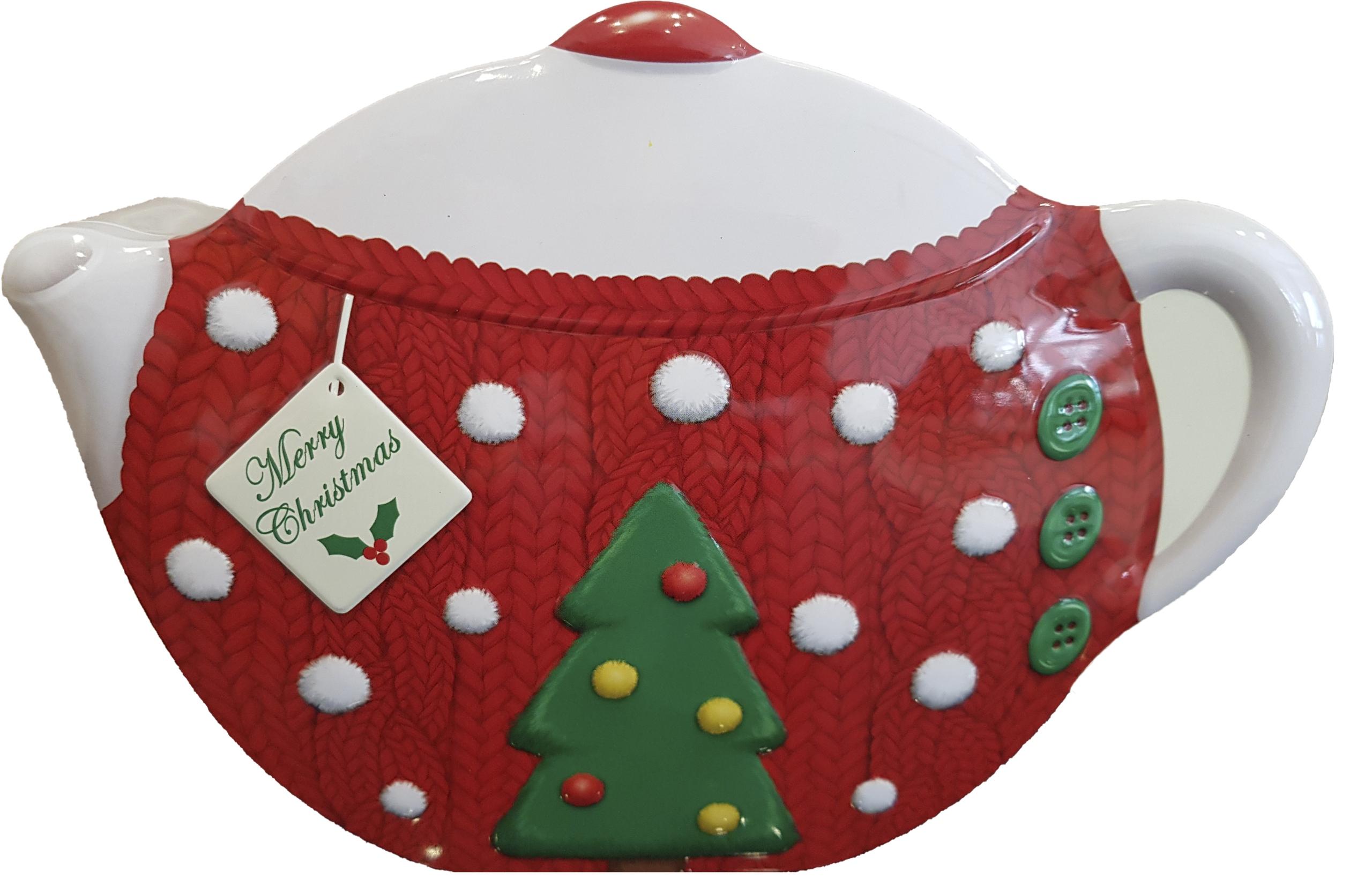 KOVOVÁ Plechovka 24 cm Vianoce na ČAJOVÉ TORTY