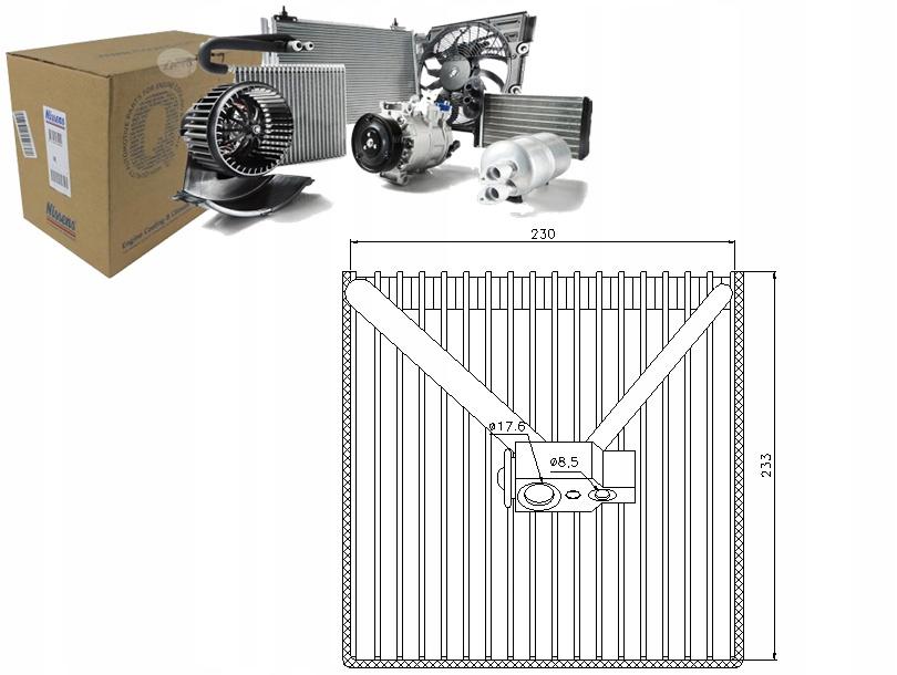 испаритель кондиционирования воздуха opel meriva 17 dti