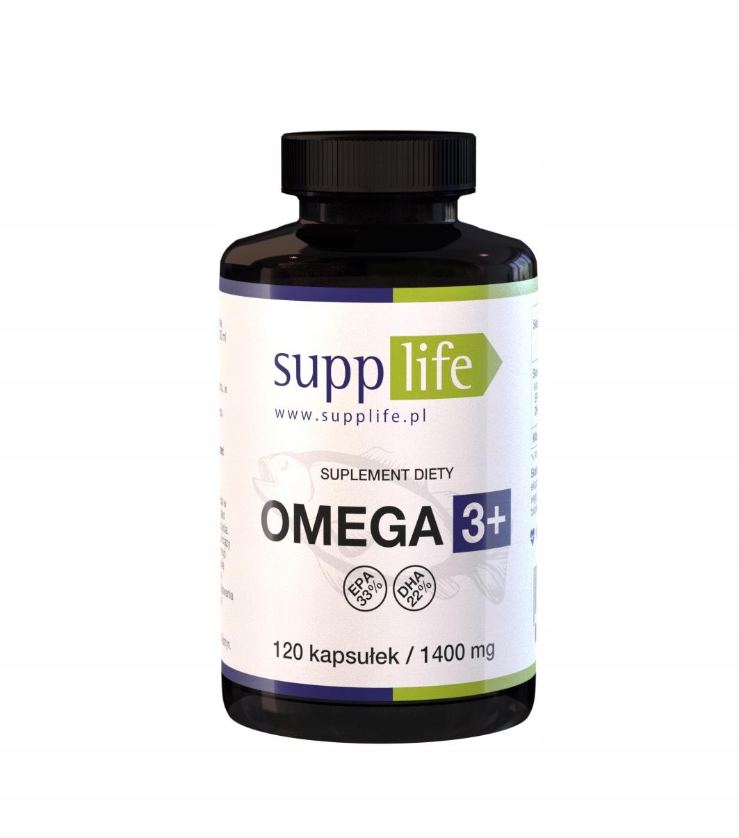 Supplife Omega 3+ 120 kaps OMEGA-3 EPA DHA