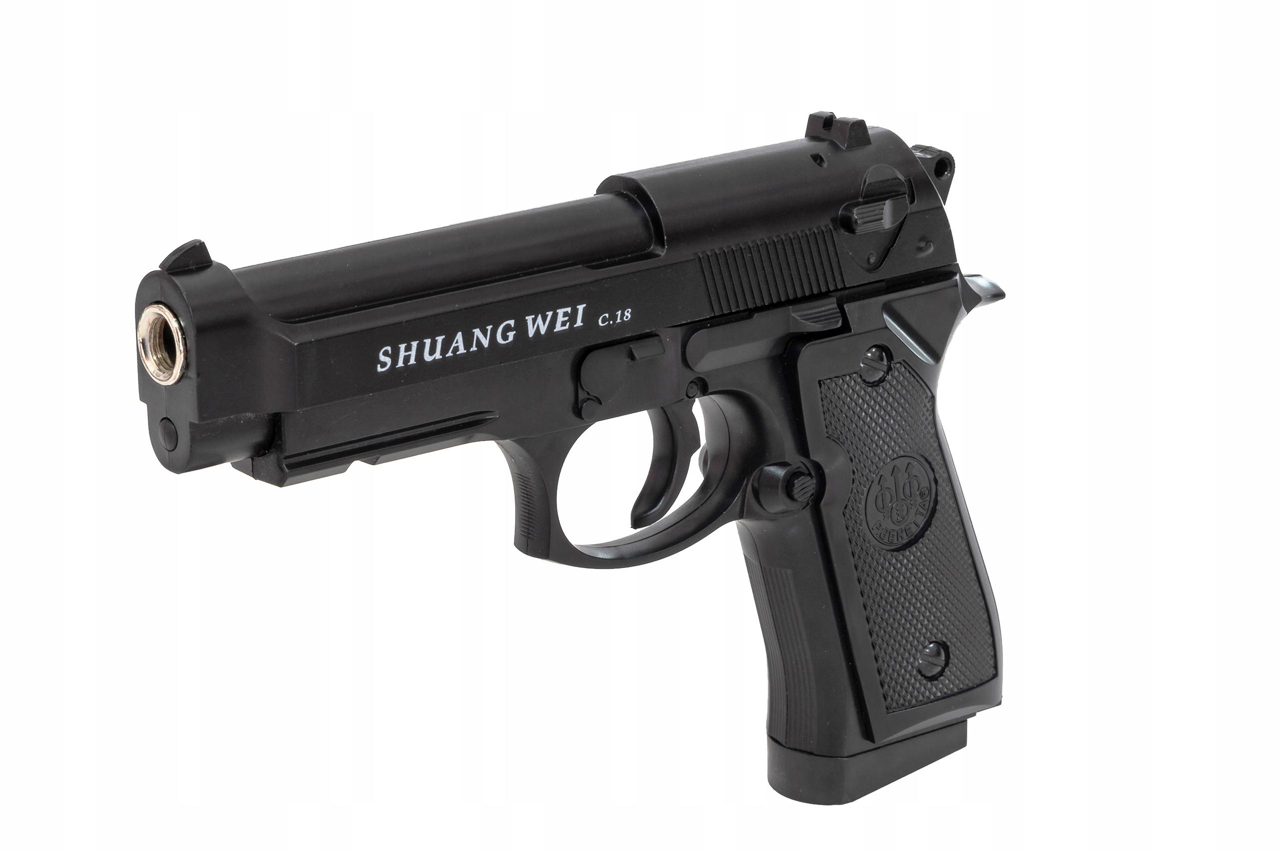 Pistolet C18 Metalowa replika Beretta + 500 KULEK