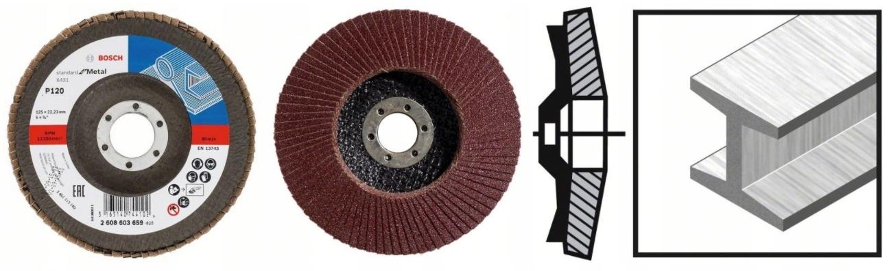 BOSCH Listkowa tarcza szlifierska 125mm P120 10SZT EAN 3165140744072