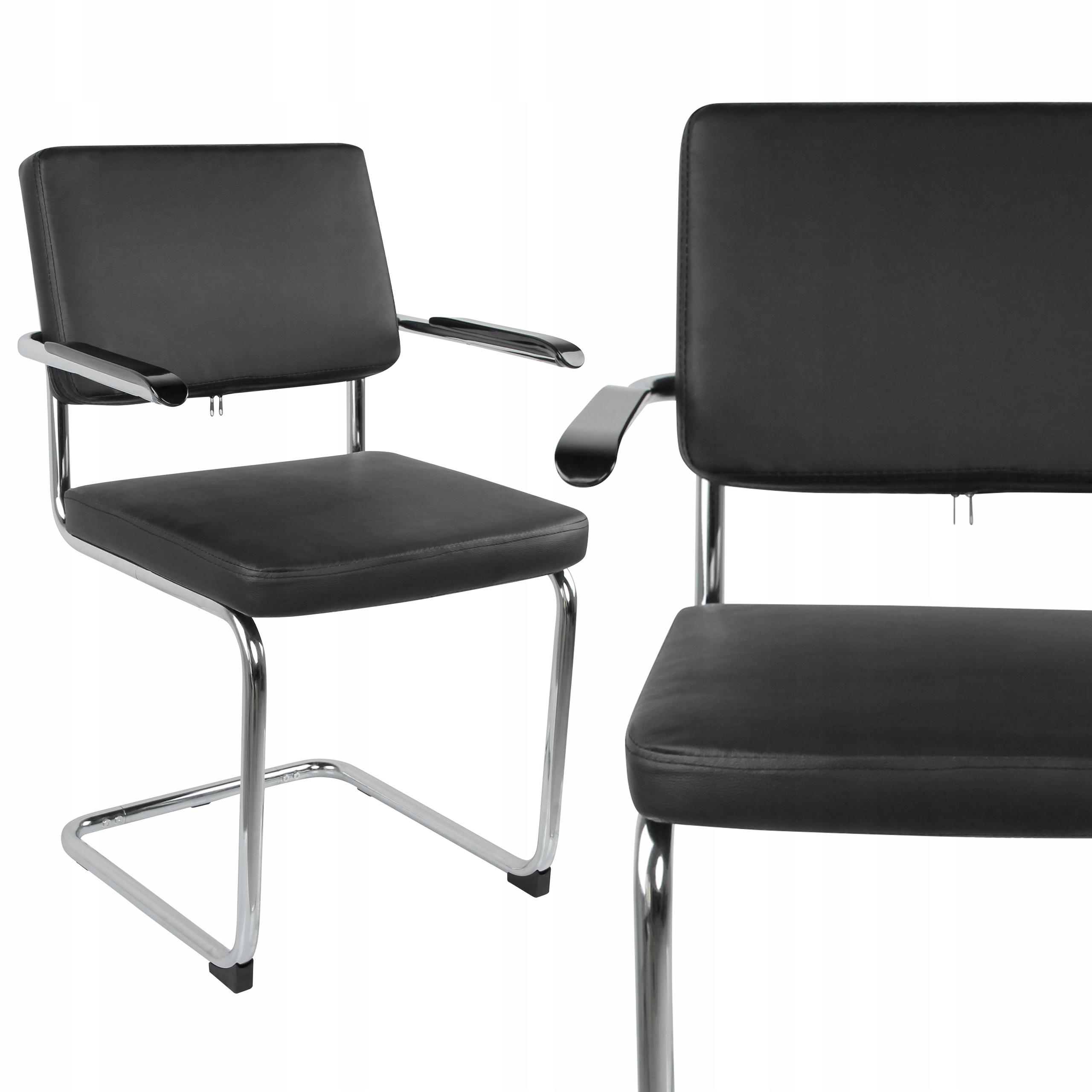 Konferenčná stolička BLACK RETRO podrúčky