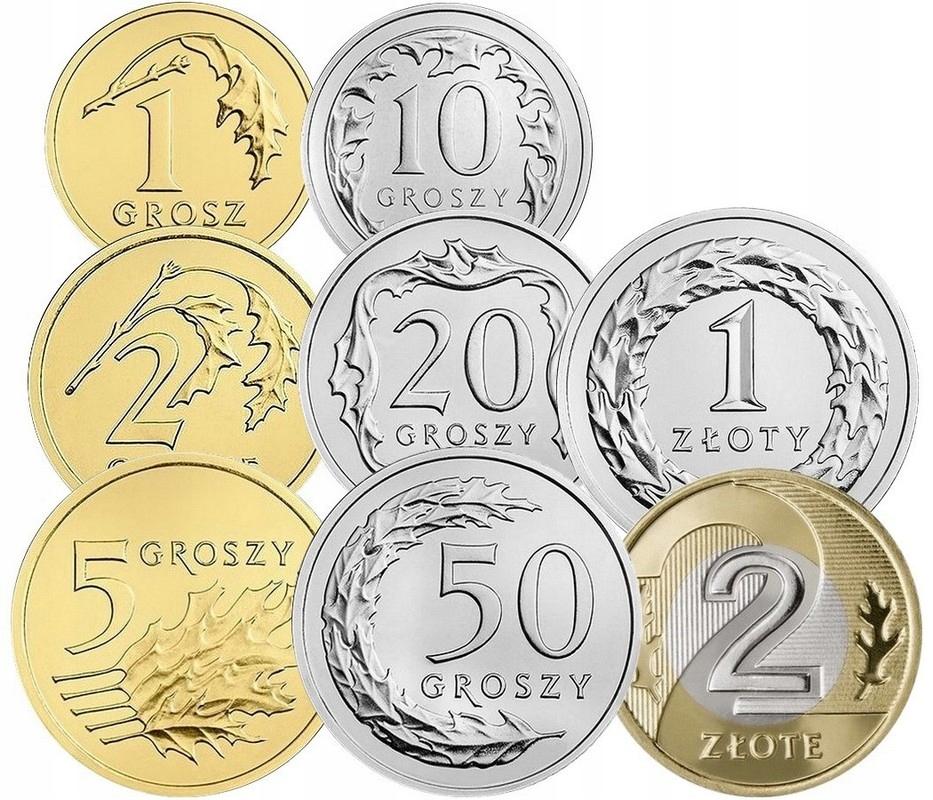 Komplet monet obiegowych 2018 r. UNC 8 sztuk