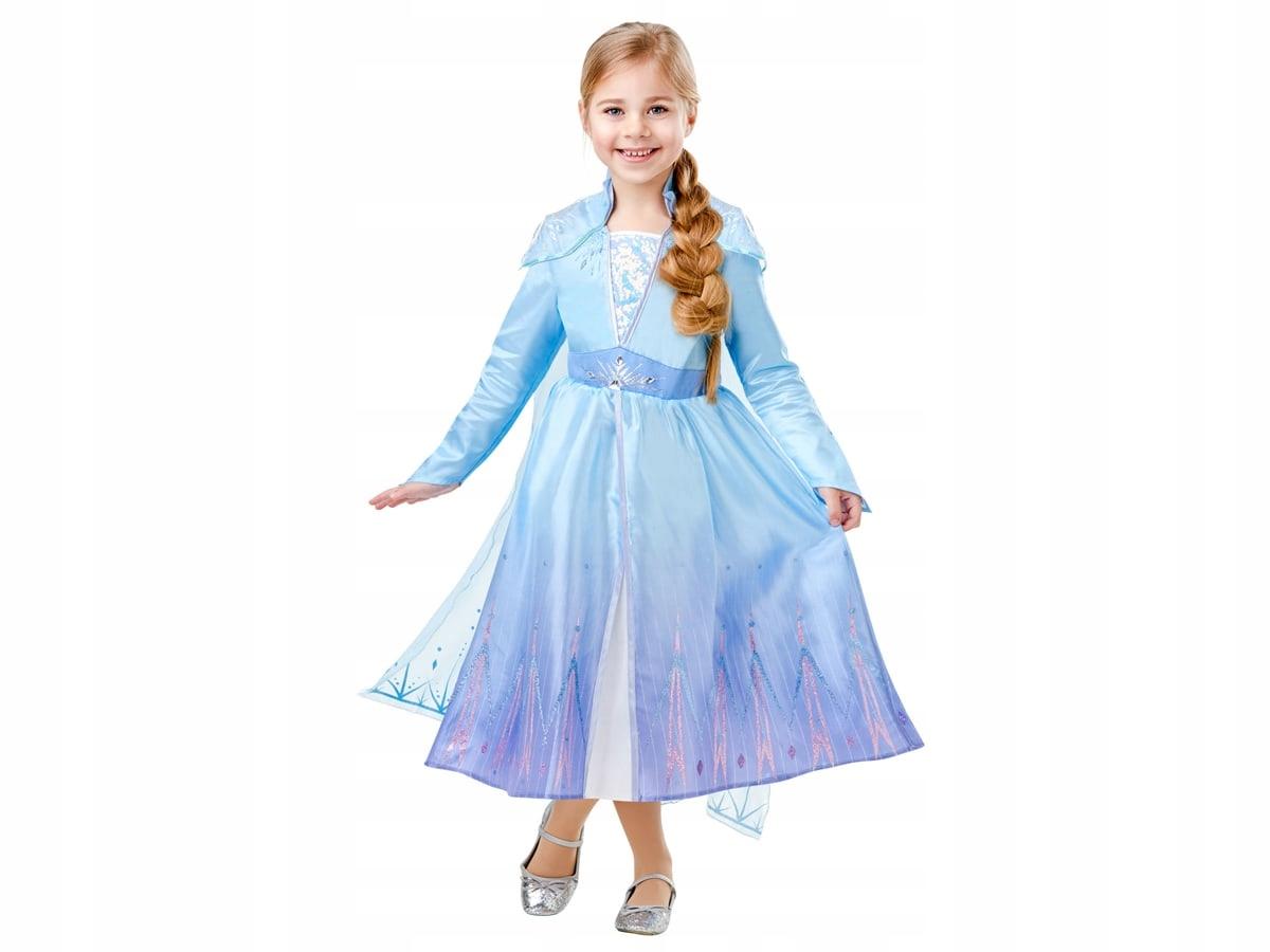 Kostým Frozen 2 Elsa Kostým Deluxe veľkosť šiat. Ľ