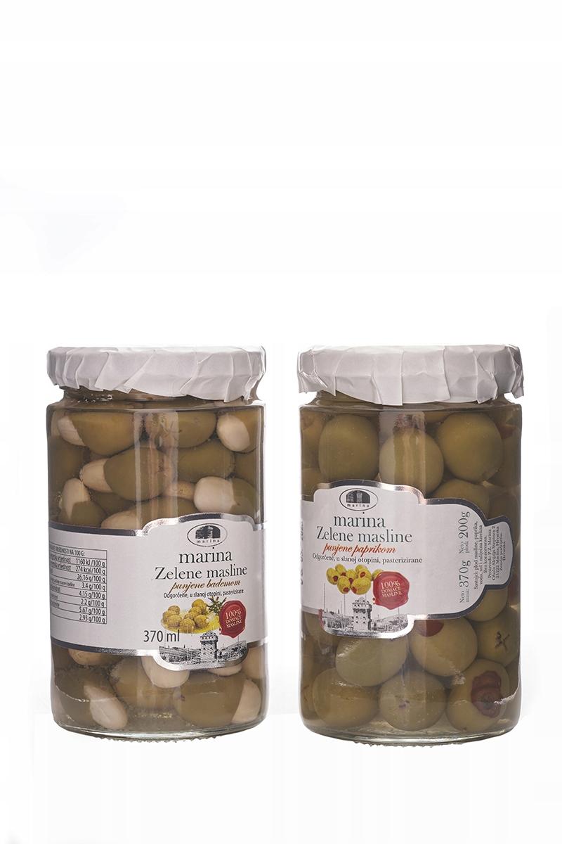 Хорватские оливки, фаршированные перцем.