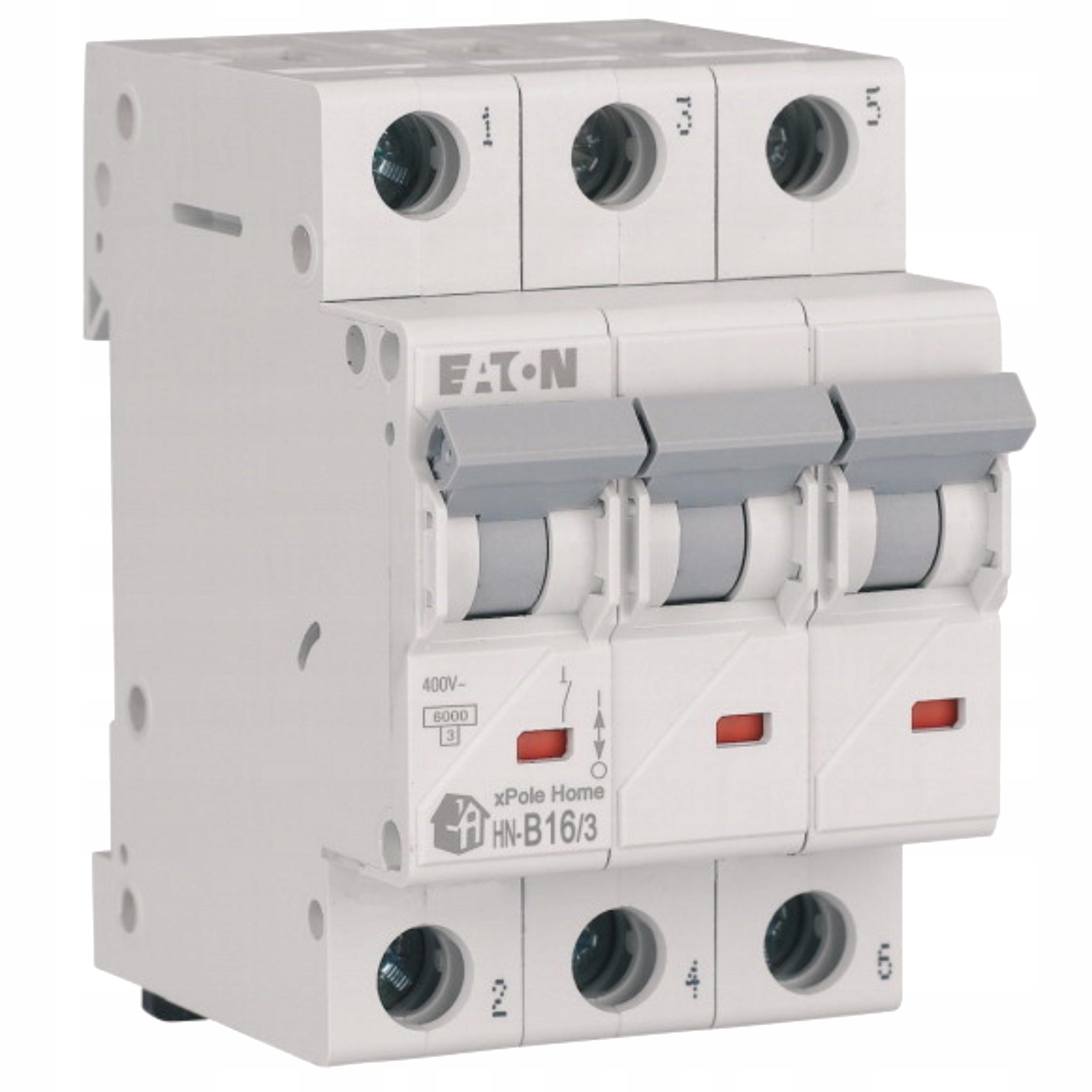 Автоматический выключатель, предохранитель 3P B 16A EATON