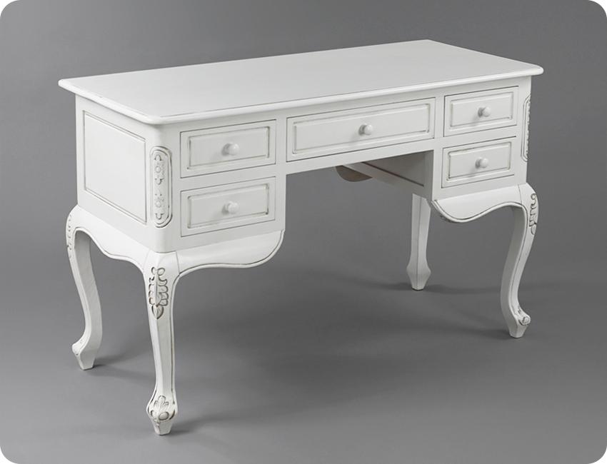 Стильный резной стол с офисными ящиками