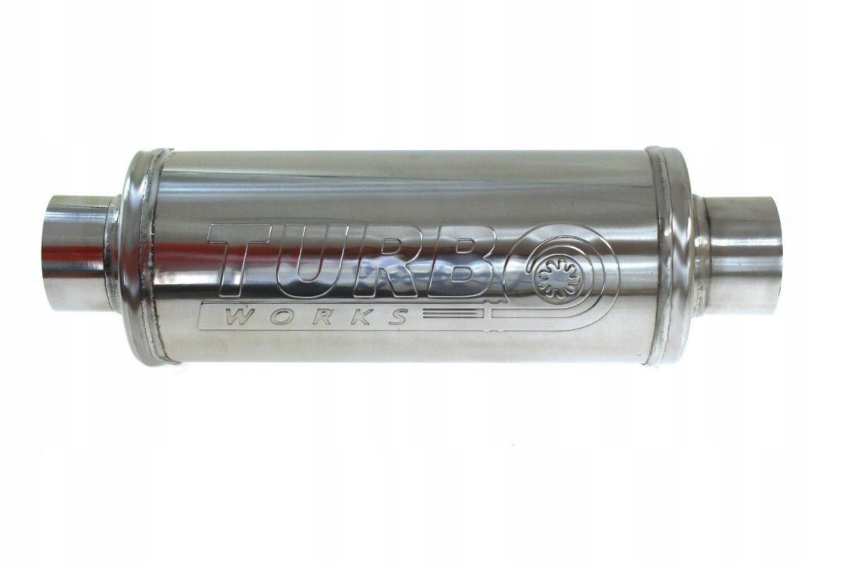 глушитель сквозное круглый спортивный turboworks 63mm