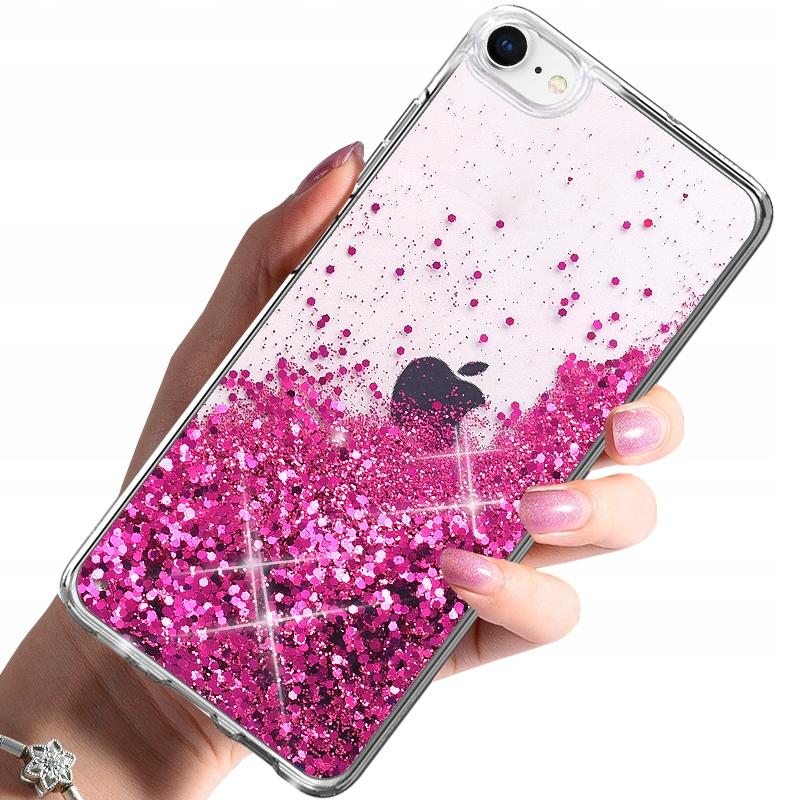 Etui BROKAT PŁYNNY do iPhone 7 8 SE 2020 + SZKŁO