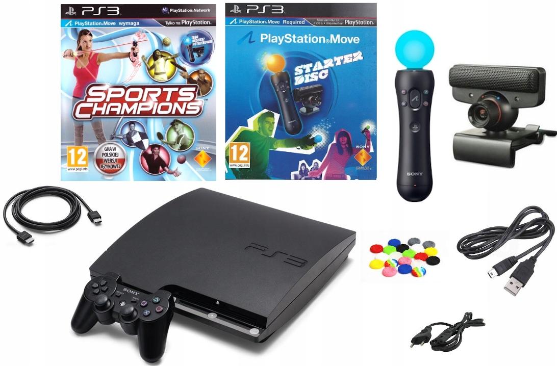 Konsola Sony PS3 Playstation 3 Slim + Zestaw MOVE