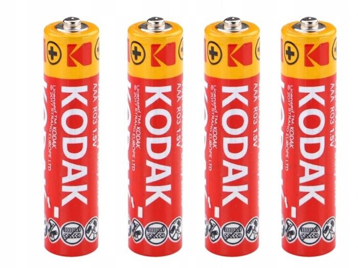 4X batérie batérie Kodak R03 R3 AAA 1.5V