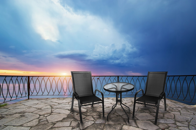 Meble na Balkon Ogród Taras Komplet Stół 2 Krzesła Przeznaczenie komplet kawowy