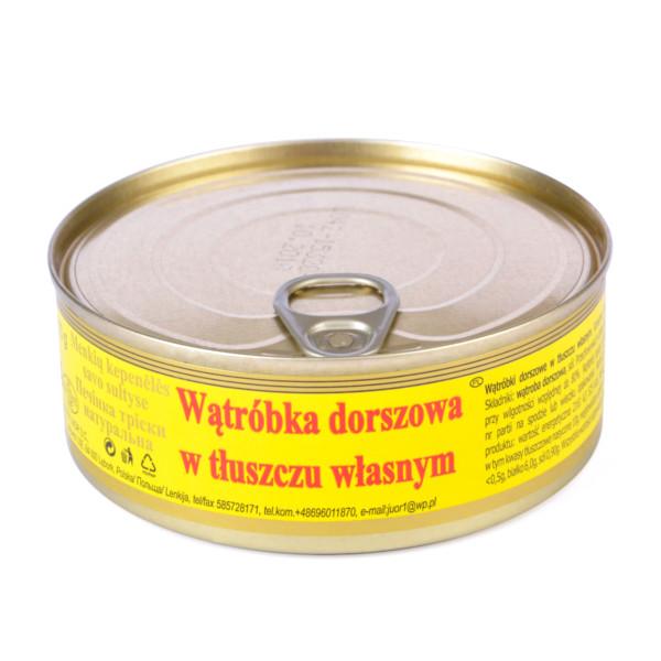 Wątróbka z dorsza w tłuszczu własnym konserwa 240g