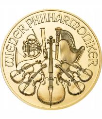 Zlatá minca Philharmonik - 1/2 oz kabát zo zlata