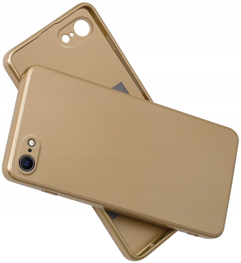 Etui SILIKON CASE + SZKŁO 9H do iPhone 7 8 SE 2020