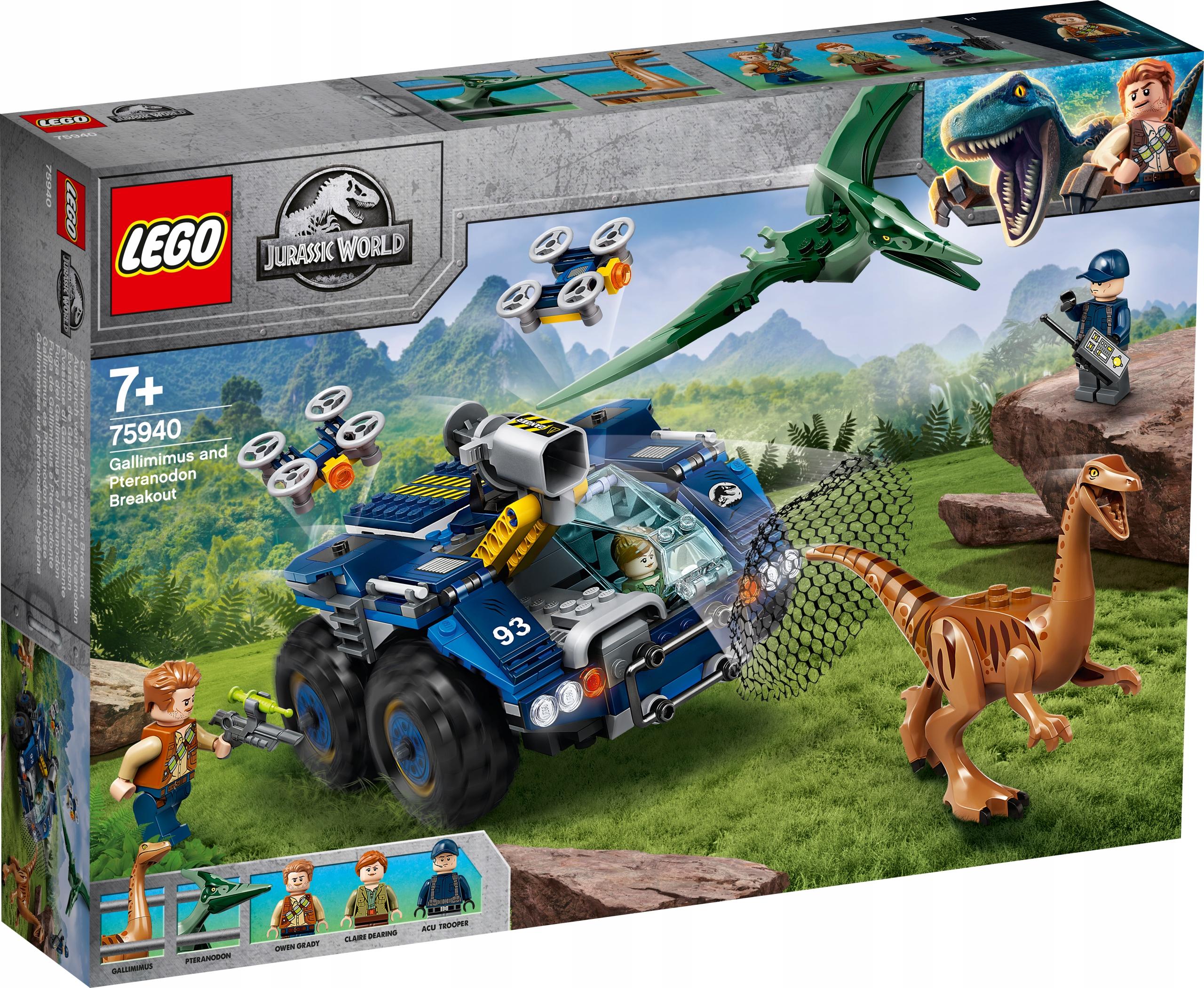 LEGO JURASSIC WORLD Gallimim i pteranodon 75940