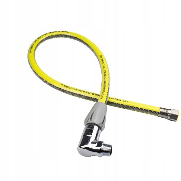 Przewód gazowy wąż do gazu elastyczny 1m 1/2
