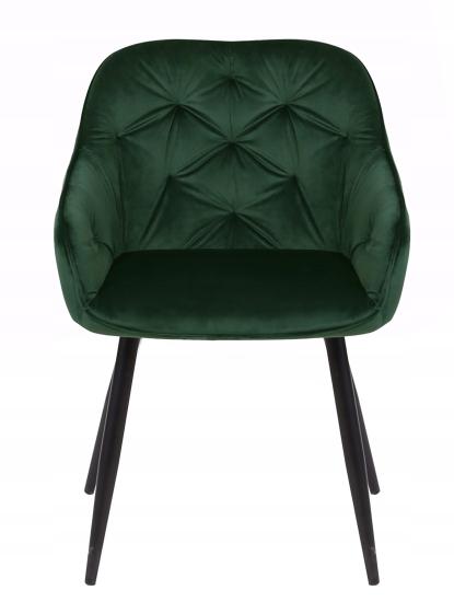 Krzesło tapicerowane Loren dark green Liczba krzeseł w zestawie 1