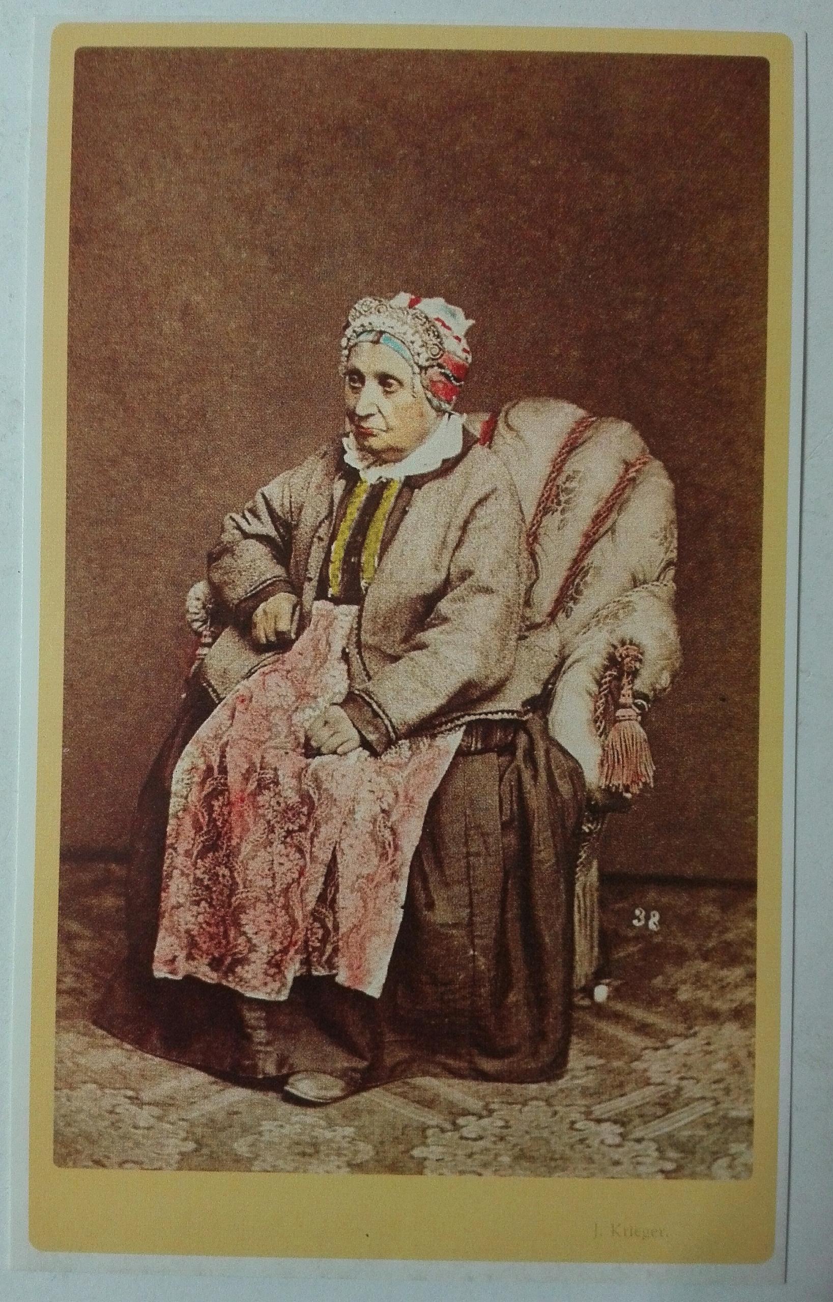 pocztówka portr. starszej Żydówki Krieger 1860 SPK