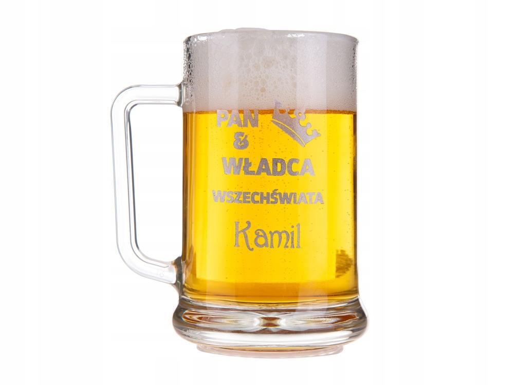 GRAWEROWANY KUFEL do piwa prezent na WALENTYNKI