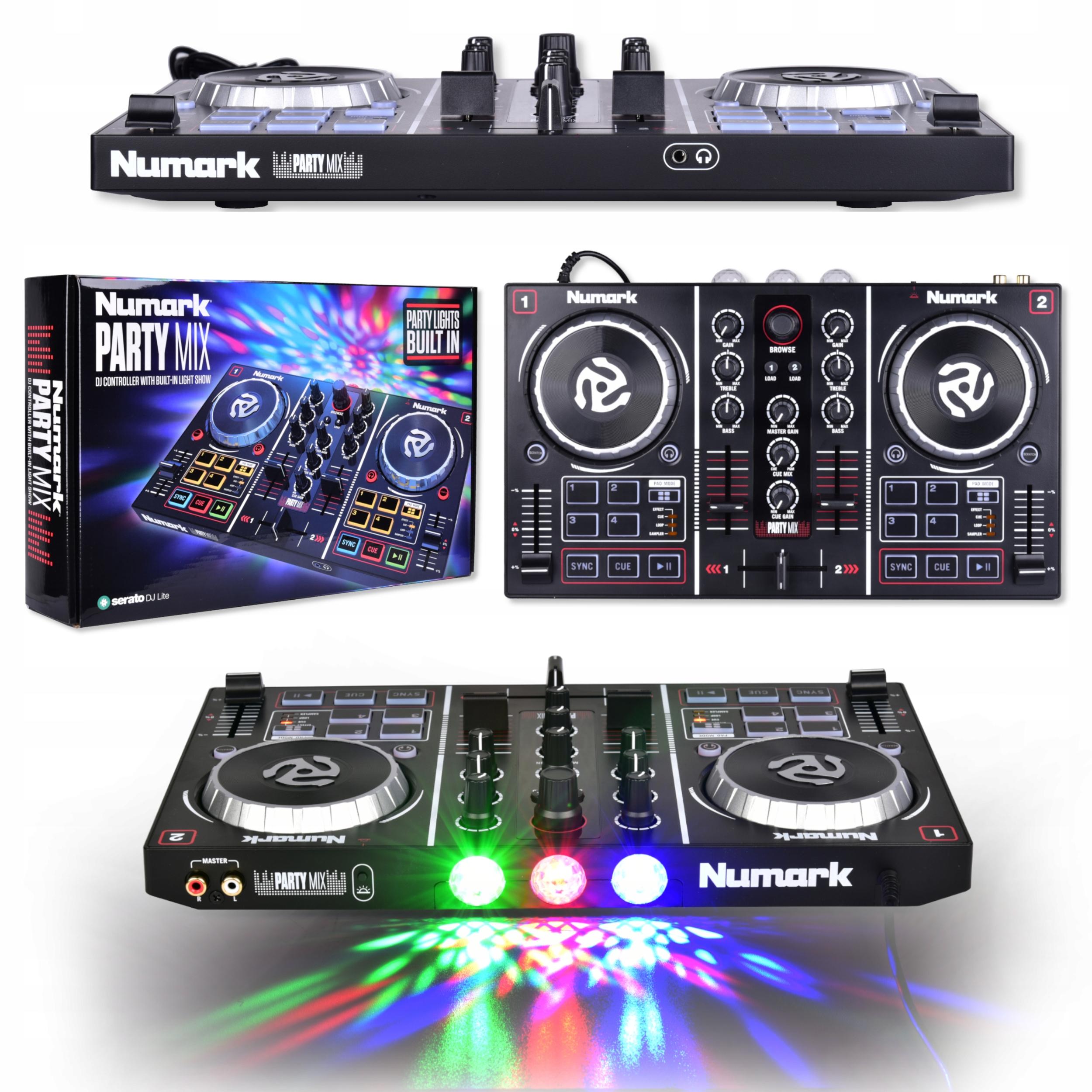 Item NUMARK PARTY MIX-DJ CONTROLLER MIXER WITH LEDS