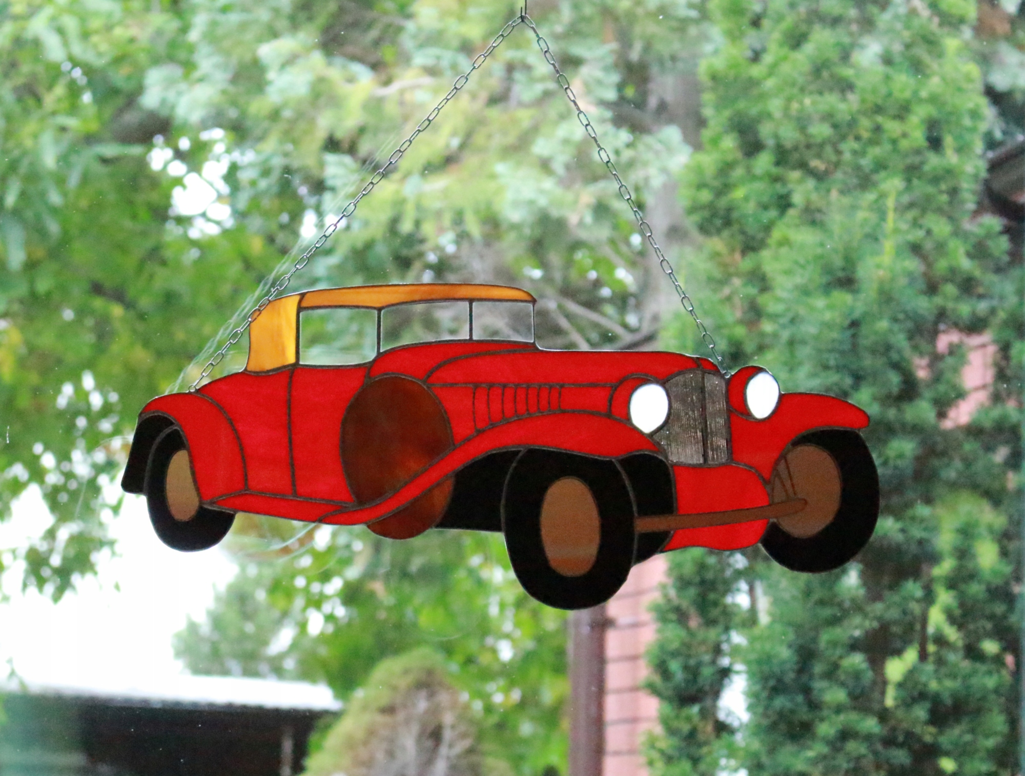 Витраж ретро автомобиля Тиффани, мужской подарок