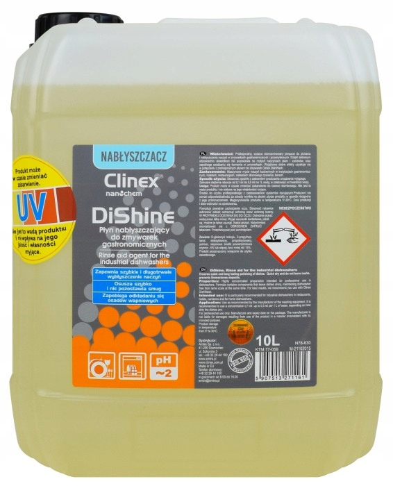 CLINEX DISHINE Kvapalina 10 l Lamital pre umývačky riadu
