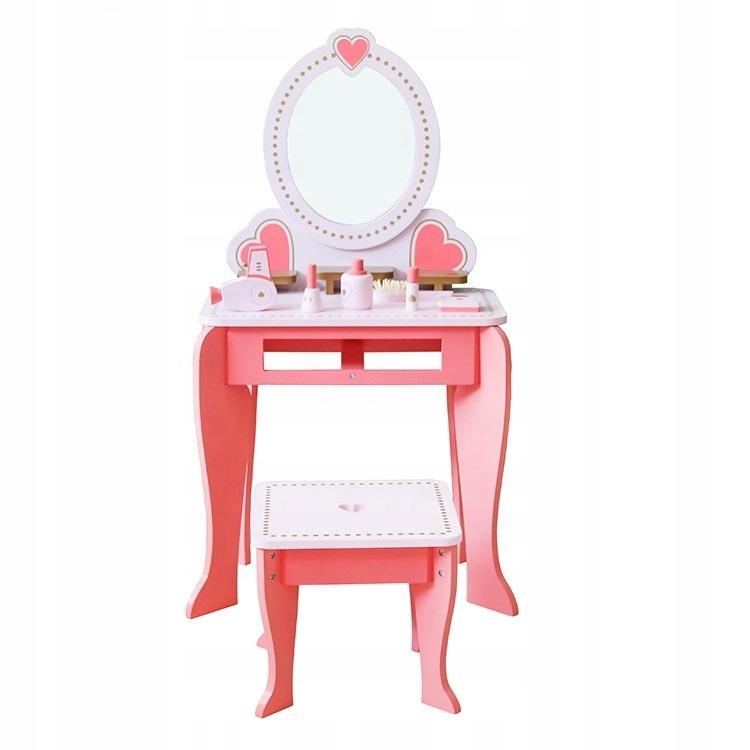 Duża drewniana toaletka dla dzieci akcesoria lustr Kod producenta 567889999766