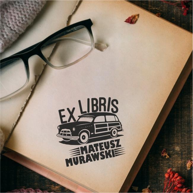 Personalizovaná známka - EX LIBRIS RETRO CAR