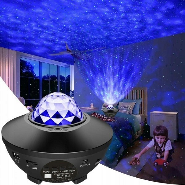 Светодиодный проектор со звездой, Bluetooth, динамик, пульт дистанционного управления