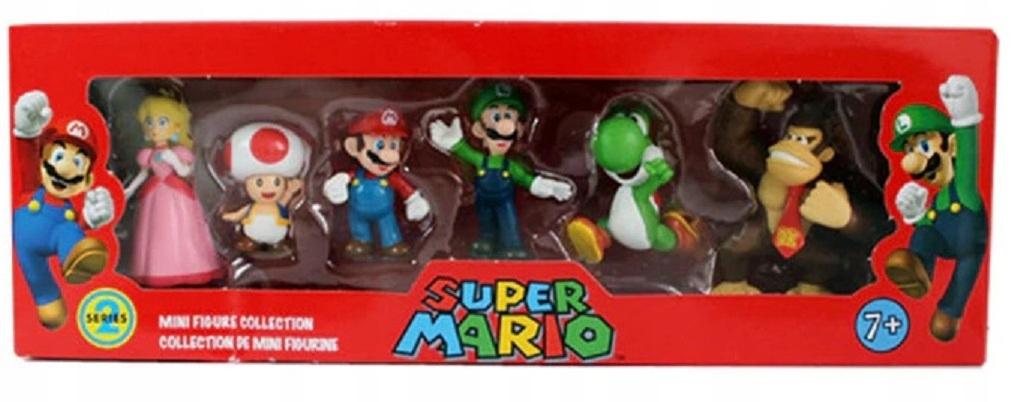 Sada 6 figúrok Super Mario, Luigi, Donkey Kong