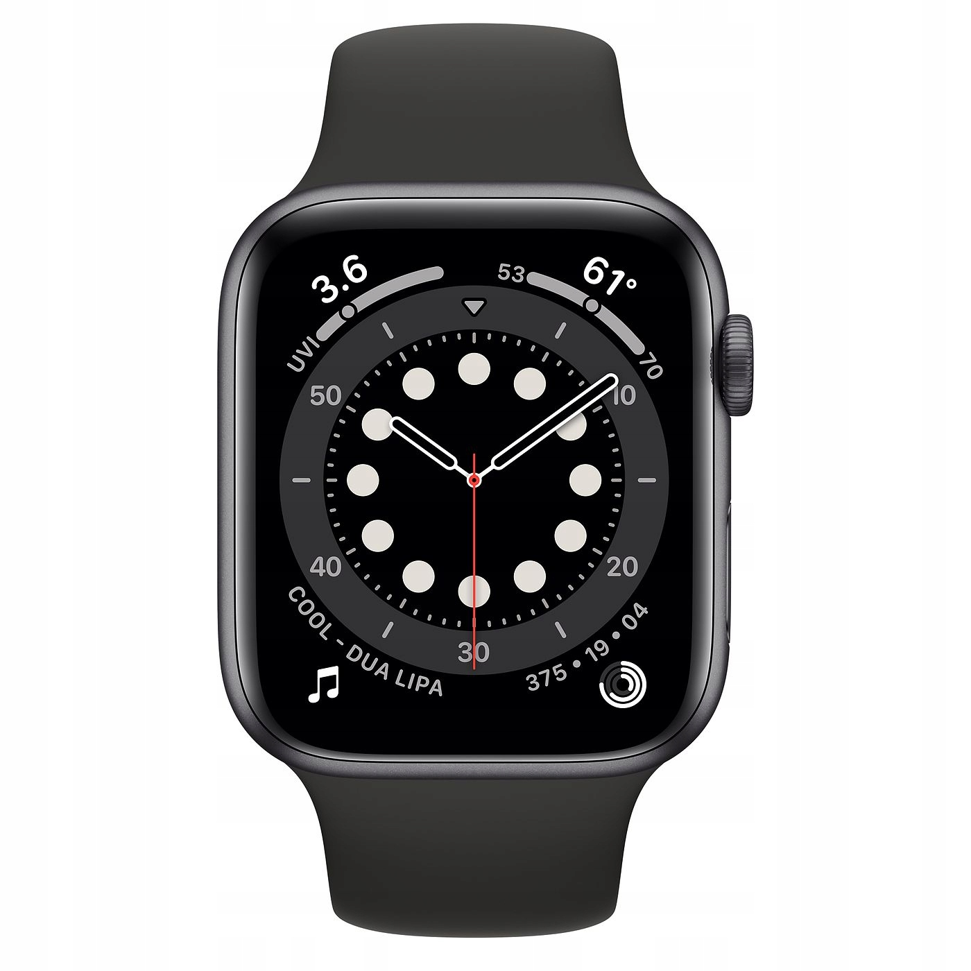 Apple Watch 6 44mm czarny od ręki FV23% Model Apple Watch 6 44mm