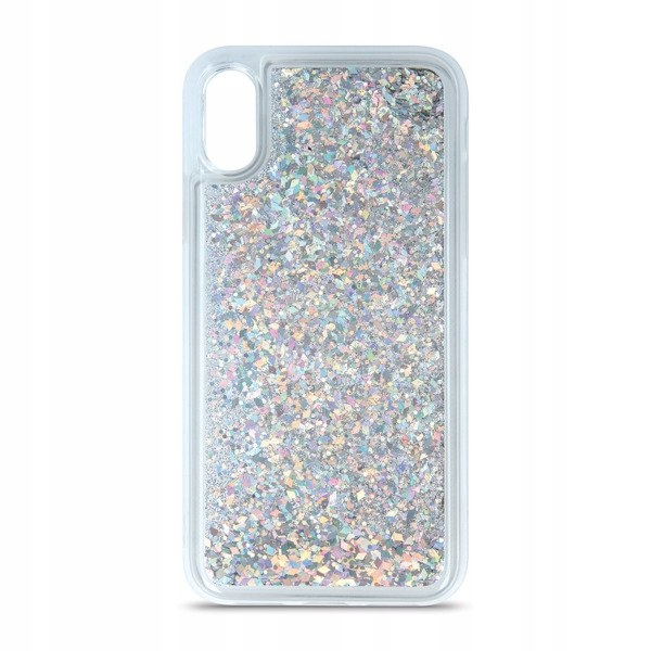 Case Etui Liquid Glitter Tpu Iphone Xs Max Srebrny