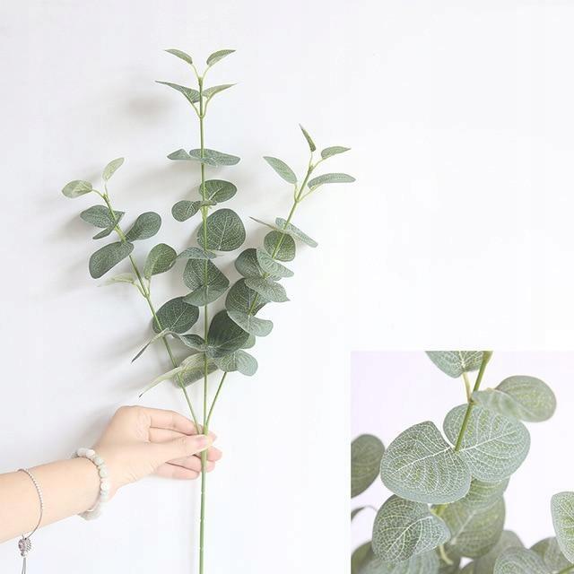 [Zelená] Umelé listy retro vetva zelená