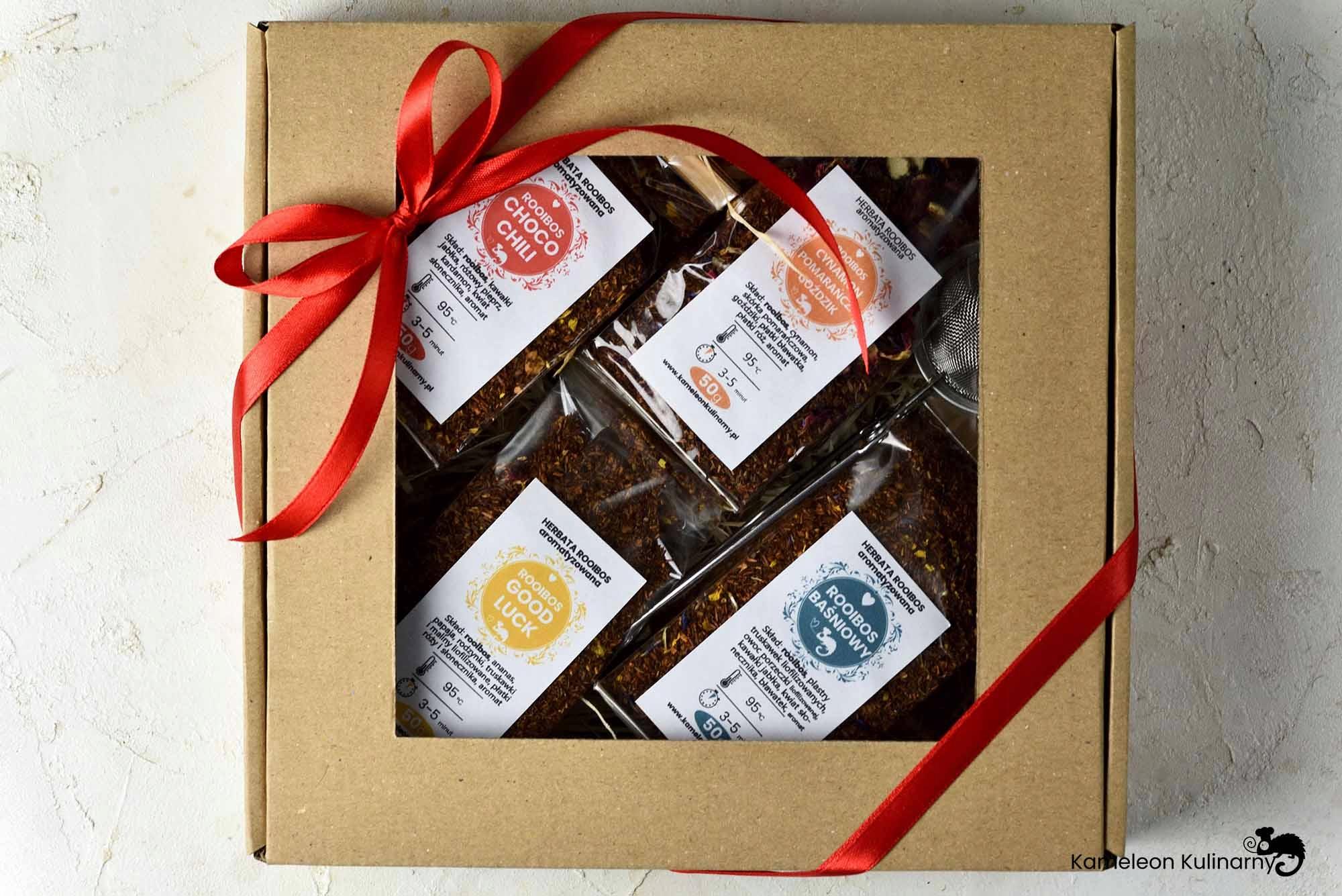 ZESTAW PREZENTOWY 4 herbaty ROOISBOS i zaparzacz Kod producenta ZESTAW PREZENTOWY