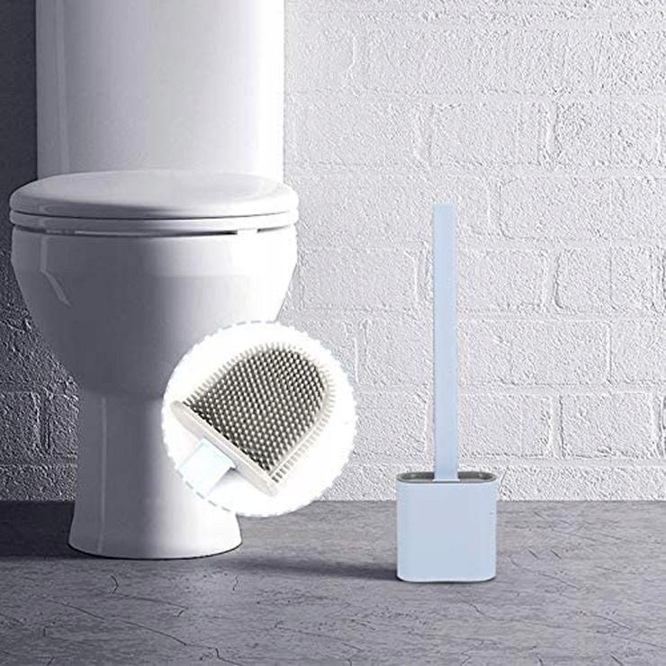 Szczotka SILIKONOWA toaletowa DO TOALETY WC uchwyt Materiał tworzywo sztuczne