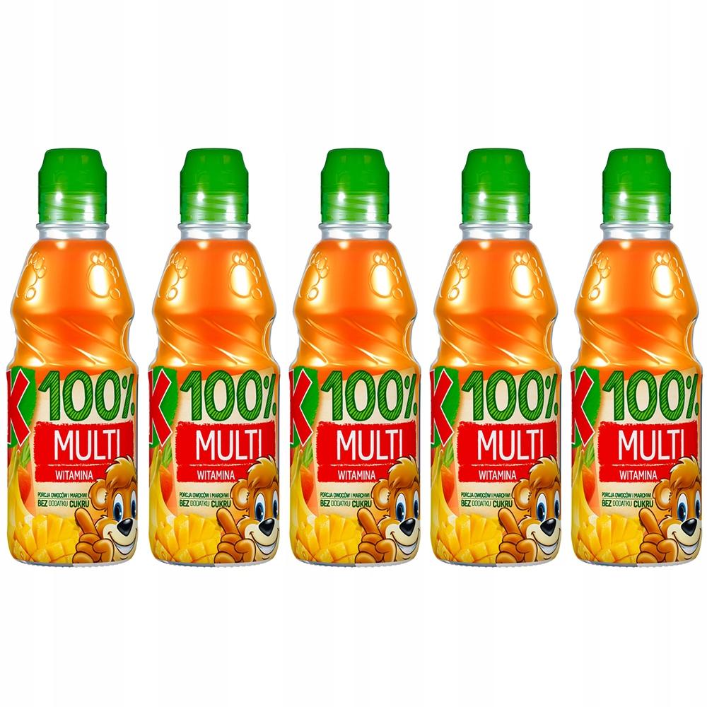 Купить Kubuś 100% сок мультивитаминный витамин А 5x300 мл на Otpravka - цены и фото - доставка из Польши и стран Европы в Украину.